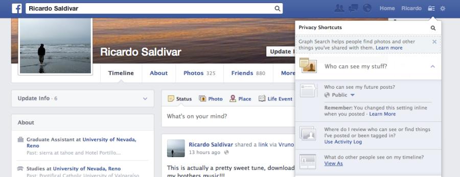 Ricardo Saldivar: FB Privacy Settings